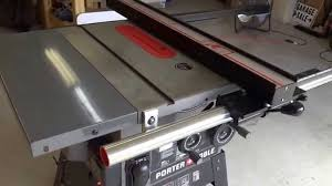 porter cable table saw review vega fence install on porter cable pcb270ts youtube