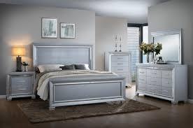 Silver Queen Bed Luca Silver Bedroom Set