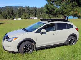 subaru crosstrek lifted subaru crosstrek xv roof rack full cargo rack factory rail