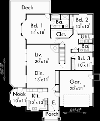 side sloping lot house plans walkout basement house plans 10018