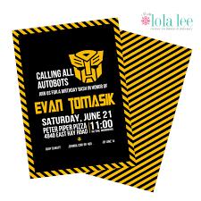 transformers birthday invitations free printable invitation design