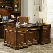 Distressed Office Desk Furniture Distressed Medium Clear Cherry Executive Desk 281