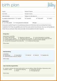 10 natural birth plan template plantemplate info