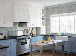 rustic blue gray kitchen cabinets white and blue kitchen with freestanding rustic gray island