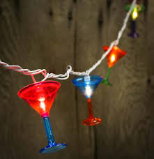 martini glass electric string lights lighting and