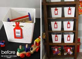 Storage Shelves With Baskets Image Labeled Toy Bins The Homes I Have Made