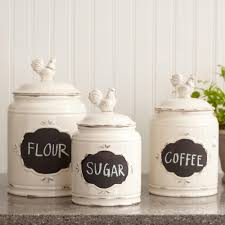 Black Canisters For Kitchen Mud Pie Circa 3 Piece Kitchen Canister Set Reviews Wayfair