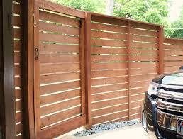 Backyard Gate Ideas Modern Horizontal Fence The Cavender Diary