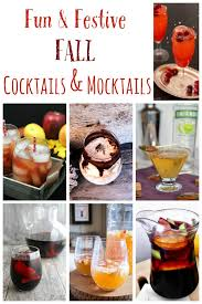 and festive fall cocktails and mocktails cupcakes kale chips