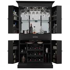 Large Bar Cabinet Black Black Home Bar Cabinet Can Be Decor With Black Color