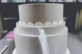 How To Make Sugar Glue Cake Decorating Grey Paisley Cake Food Heaven