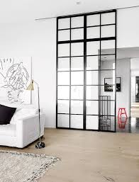 sliding door to separate the kitchen and living room dump the