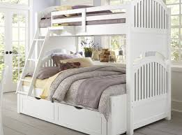 Bed  Satisfying Twin Over Full Bunk Beds Under  Pleasing Twin - White bunk beds twin over full with stairs