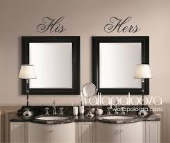 bathroom wall decor his and hers wall decal mirror decal zoom