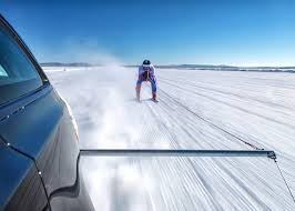 skier and jaguar break ice cool guinness world records title