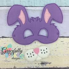 bunny mask bunny mask embroidery design 5x7 hoop or larger