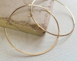 hammered hoops hammered gold hoops 1 inch gold hoop earrings simple
