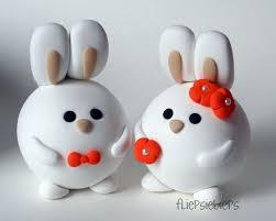 bunny wedding cake topper by fliepsiebieps on deviantart
