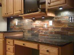 kitchen stone backsplash ideas with dark cabinets patio
