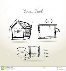 drawn house outline drawing pencil and in color drawn house