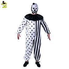 clown jumpsuit shop 2017 plus size striped kill clown costumes
