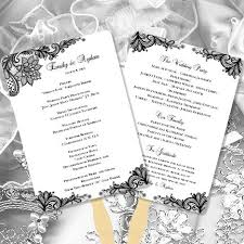 make your own wedding fan programs wedding fan programs vintage lace black white