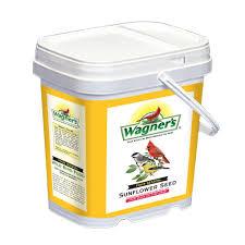 wagner u0027s four season 12 lb black oil sunflower seed bucket 76101