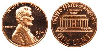penny s 1974 s lincoln memorial cent copper alloy penny value and prices