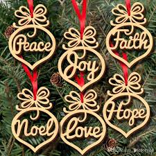 letter wood pattern ornament tree