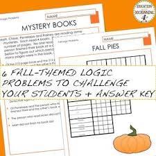 thanksgiving math logic puzzles and more for autumn tpt