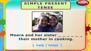 simple present tense english grammar exercises for kids