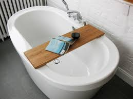 Tray For Bathtub Simple Diy Bathtub Trays For Reading Made From Teak Wood Ideas