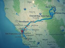 Map San Francisco To Yosemite National Park by Weekend Road Trip San Francisco To Reno Flight Attendant Joe