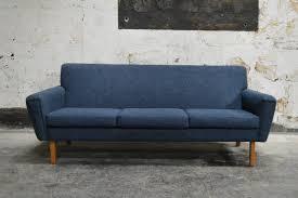 Modern Blue Sofa Swedish Mid Century Modern Blue Sofa At 1stdibs