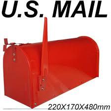 cassetta della posta americana postale americana cassette postali portalettere rossa 93950 lamiera