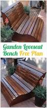 Garden Loveseat Diy Outdoor Garden Bench Ideas Free Plans Instructions