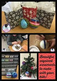 make these beautiful ornaments with your class tis the season