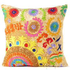 Decorative Pillow Sale Suzani Embroidered Velvet Decorative Pillow Boho Couch Cushion