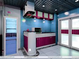 Blue Kitchen Designs Interior Exterior Plan Blue Kitchen Interior Design A