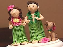 themed wedding cake toppers how to make a luau themed wedding cake topper hgtv