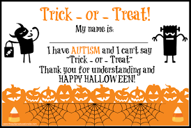 trick or treating for kids with autism sarah dooley center for