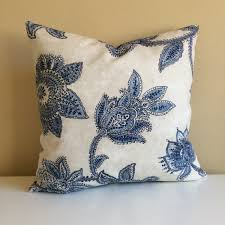 farmhouse pillow shabby chic pillow french country cottage blue