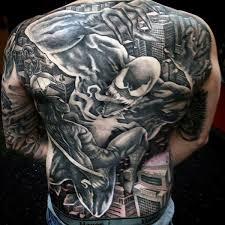 spiderman tattoo back www imgarcade com online image