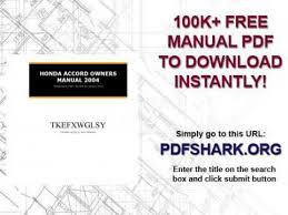 2004 honda accord owners manual pdf honda accord owners manual 2004
