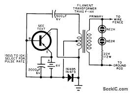 electric fence charger power supply circuit circuit diagram