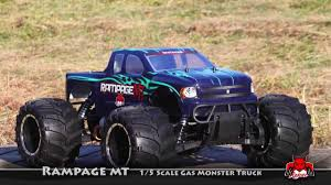 nitro rc monster truck kits rampage mt 1 5 scale monster truck by redcat racing youtube