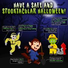 Glow In The Dark Halloween Fabric by Cal Fire Halloween Safety