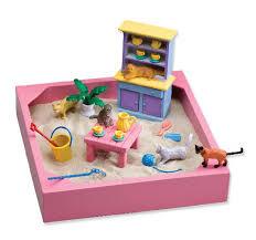 sandbox for kids children outdoor sand pit backyard garden wooden