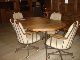 Poker Table Chairs With Casters by Dining Table Sets With Rolling Chairs Home Chair Designs Kitchen
