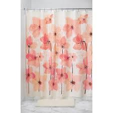 Pink Flower Shower Curtain Amazon Com Interdesign Blossom Fabric Shower Curtain 72 Inch By